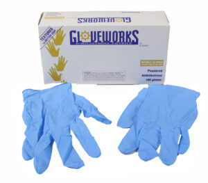 Gloves - Medium, Powdered Nitrile-0