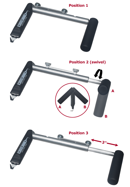 UltraWiz UltraReach Cold Knife Handle Positions