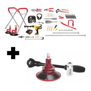 TLS1607DV Equalizer Glass Removal Kit + Dewalt + Viper GRK551D-V